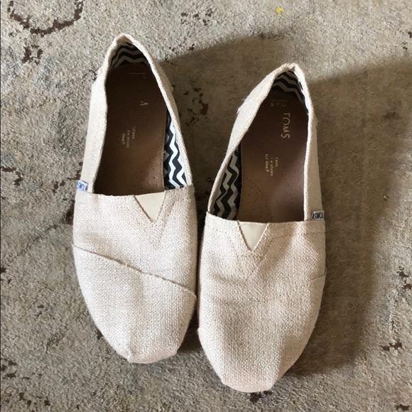 b042f12968e Toms Shoes - TOMS NATURAL METALLIC BURLAP CLASSICS SHOES
